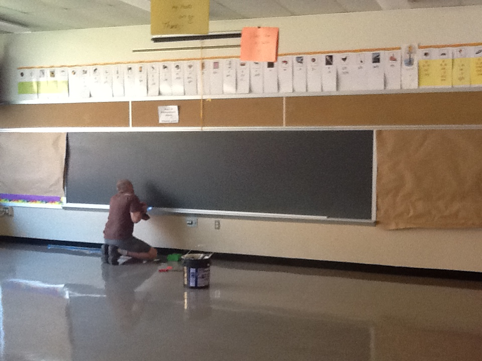 Overboard - Preparing the Old Chalkboard - Kratzer Elementary