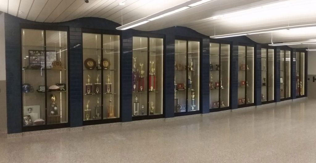 Recessed Display Case - Quakertown High School