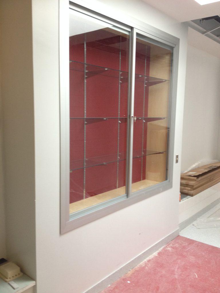 Recessed Display Case - Wilson High School Natatorium